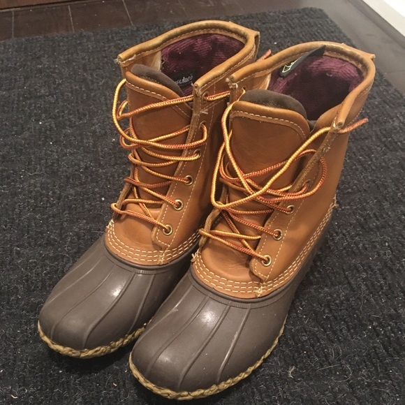 "L.L Bean 8"" Thinsulate Lined Boots 7M"